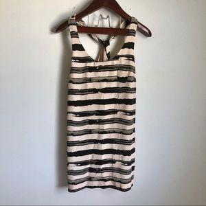 J Crew Modern Striped Racerback Dress Silk 4